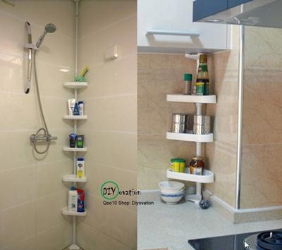 DIYtoilet shelf/ corner shelf/ bathroom shelf/ kitchen shelf/ toilet  organizer/ kitchen rack/ Shelving rod/ extension shelf/ space saving