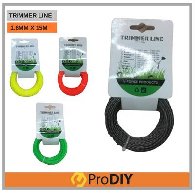 DIYTRIMMER LINE String Electric Trimmer Refill 1 65mm x 15m (Random Color)