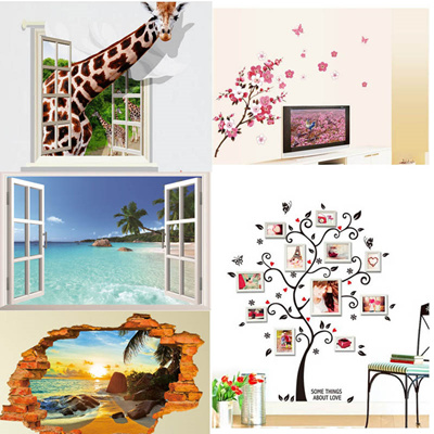 Marvelous Diy Wall Stickers For Kids Room Animal Flowers Tree Wall Decals Baby Room Nursery Wall Art Decals Removable Wallpaper Kids Bedroom Wall Stickers Download Free Architecture Designs Rallybritishbridgeorg