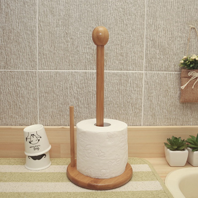 DIY Wooden Paper Towel Holder Roll Stand with One Hand Easy Tear