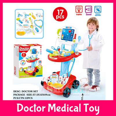 Doctor Medical Toy Set★Surgeon Hospital★Kids Children Birthday Gift Xmas  Clinic ECG Nurse Trolley