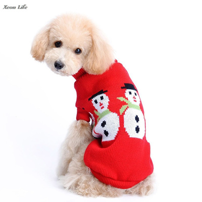Dog Christmas Sweater.Dog Clothes Pet Dog Christmas Sweater Snowman Print Pet Red Lapel Sweater High Quality In Vovotrade