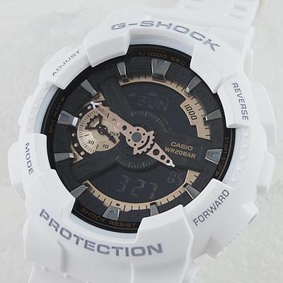 945c551fc Domestic regular items Casio G Shock watches Men's watches White analogue GA -110RG-7AJF