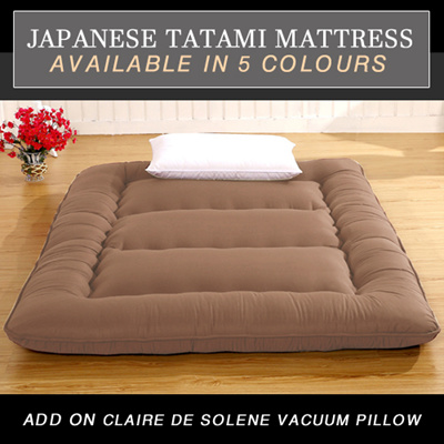 Domus Futon Mattress Available In 5 Colours Japanese Tatami