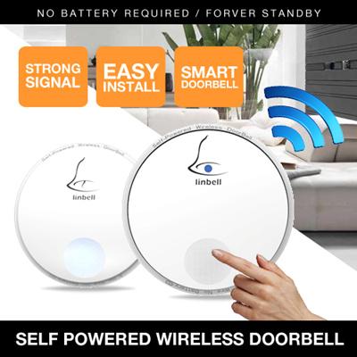 Door bell NO NEED BATTERY /Portable Wireless Remote Control Doorbell/No  Need Install Door Alarm Bell
