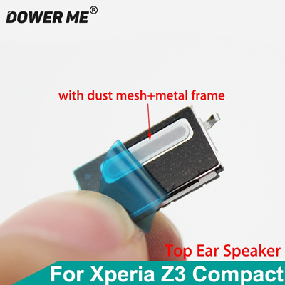 Dower Me Top Ear Speaker Receiver Earpiece Earphone With Adhesive+Metal  Frame For SONY Xperia Z3 Com
