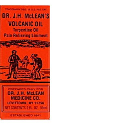 Dr  J  H  Mclean s Volcanic Oil Pain Relieving Liniment 2 oz (2pack)