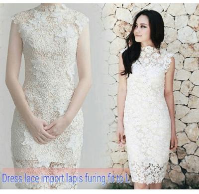 80 Contoh Baju Brokat Dress Pendek Paling Hist