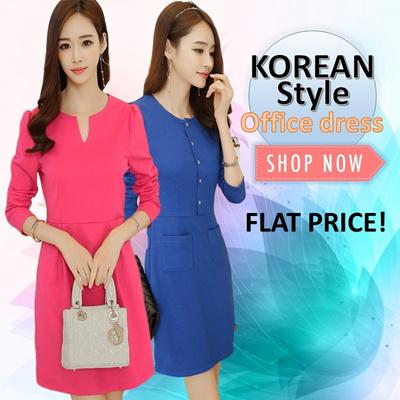 160a1888dda94 Qoo10 - Office Work Dress   Women s Clothing