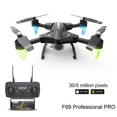 Drone F69 remote control wifi FPV,480P/1080P camera 6-Axis aerial toy 2 4G  4CH foldable aircraft