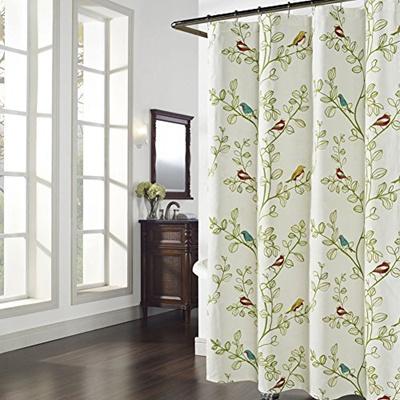 DS BATH Maria Shower Curtain,Fabric Shower Curtain,Shower Curtains for Bathroom,Bathroom