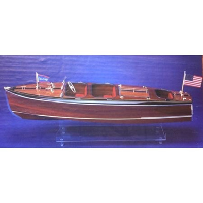 Dumas Chris Craft Triple Cockpit Barrel Back Wooden Boat Kit By Dumas
