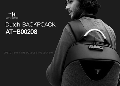 44e62adb72 Dutch Anti-Theft Backpack USB Charging Multi Pocket INCH CASUAL INCH Korean  Waterproof School Bag