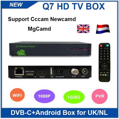 Qoo10 - DVB-C Q5 TV cable box upgrade to HD Q7 Android DVB C cccam