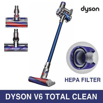 qoo10 dyson v6 total clean bagless cordless vacuum hepa filter home appliances. Black Bedroom Furniture Sets. Home Design Ideas