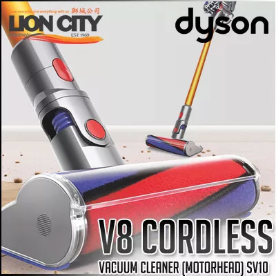 Qoo10 Dyson V8 Cordless Vacuum Cleaner Fluffy Head Sv10 While Stock Last Home Appliances