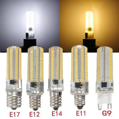E17//G9//E14//E11//E12 4W Silica Gel 152 SMD 4014 LED Corn Light Dimmable Warm White