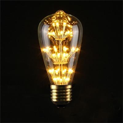 E27 ST64 3W Vintage Retro Filament Edison Tungsten Light Bulb Antique Style Lamp  LED 110V