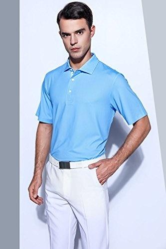 7b61db27a EAGEGOF Mens Shirts Short Sleeve Tech Performance Golf Polo Shirt Loose Fit