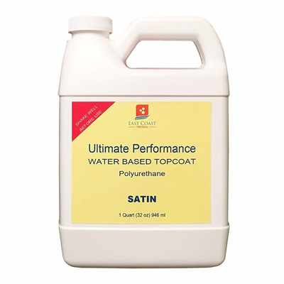 East Coast Resin Ultimate Performance Water Based Topcoat 1 Quart Satin