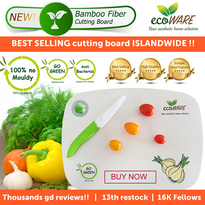 ecoWARE OfficialecoWARE 18th RESTOCK [BEST SELLING CUTTING BOARD] Bamboo  Fiber Chopping Board | Anti-bacteria