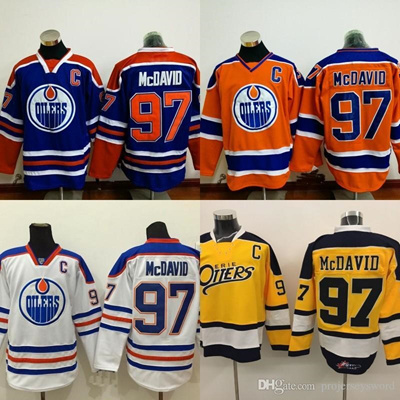 brand new 9006c 056c6 Edmonton Oilers Jersey Captain C Patch #97 Connor McDavid Jerseys, Men' s  100% Stitched Embroide