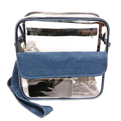 1c08d1f2c6e3 (Eezseven) Clear Bag NFL NCAA PGA Stadium Approved Clear Messenger Bag  Clear Shoulder Bag with Ad...