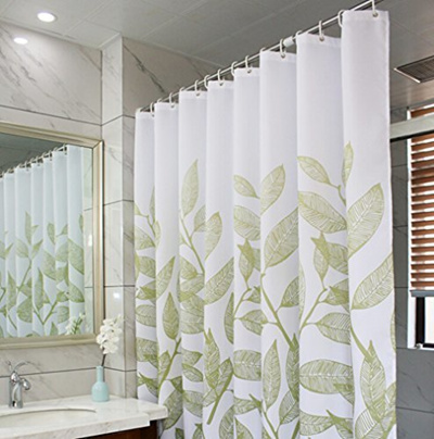 Show All Item Images Close Actual Size Prev Next Eforcurtain Home Fashion Green Leaves Shower Curtain