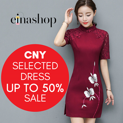 9a8c3d520f CNY UP TO 70% SUPER SALE FOR SELECTED LADIES DRESS BY EINASHOP
