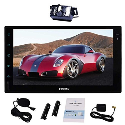 EinCar Free External Microphone + 7 Inch Android 6 0 Double Din Car Stereo  GPS Navigation Head Unit