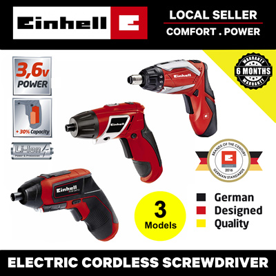 EinhellElectric Cordless Screwdriver Drill Set (with Bits)  [Portable/Lightweight/Rechargable]