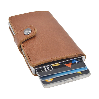 Elastic Aluminum Credit Card Card Holder Magnetic Card Case Wallet Card Package Boxage