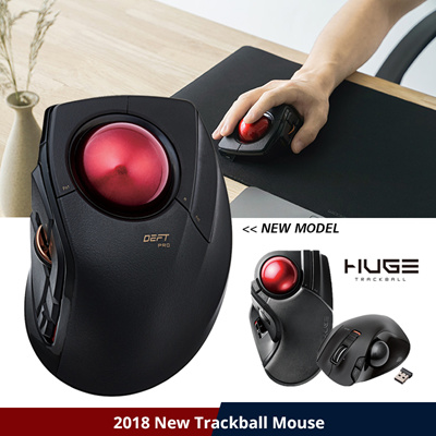 ELECOM★ELECOM Japan★ | Trackball Mouse | Professional Usage / Gaming / CAD  drawing / Wireless/Wired