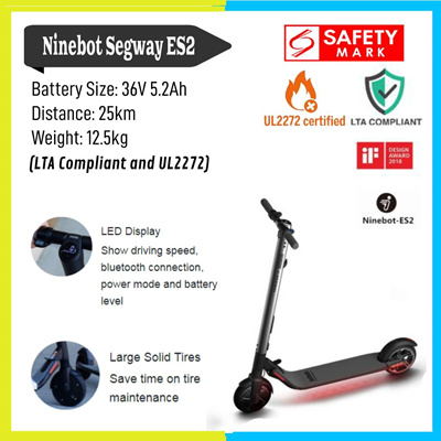 electric scooterLOWEST PRICE★SG Seller★Ninebot es2 Segway ES2 E-scooter  ✅UL2272