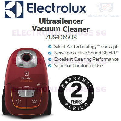 Electrolux ZUS4065OR UltraSilencer Vacuum Cleaner 2 Years Singapore Warranty