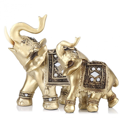 Qoo10 Elegant Elephant Statue Ornament Figurine Vintage Home Decor