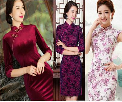 7ededaf9a [Elegant Fashion Cheongsam] New Arrival Fashion Retro Chinese Cheongsam  Dress Women Floral Cheongsams Qi