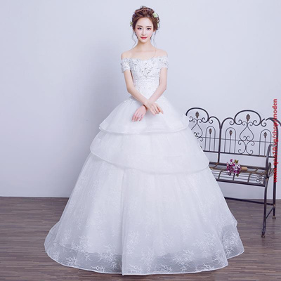 Elegant Princess Cut Wedding Gown Real Pictures Customized Plus Size Off Shoulder Lace Ball