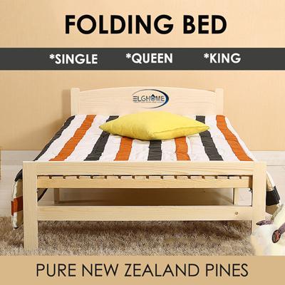 hot sale online 14e37 9b928 ELG HOMEFolding Bed/Bedframe/Bedsheets/Bedsheet/Single size /Queen size  /King size/Bedroom/Storage Bed