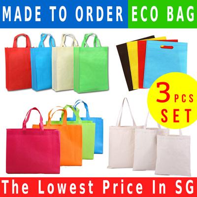 2184bc7f57 3 Pcs Set Eco Bag   Customized   Gifts   Canvas  Shopping Retail