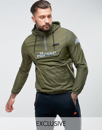 f3c5e1f627 Qoo10 - Ellesse Overhead Jacket With Reflective Logo In Green ...