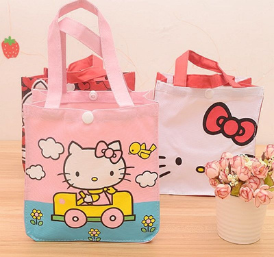 aed3330f4 Email Hello Kitty cute cartoon lunch box bag lunch box bag canvas tote bags  bring your