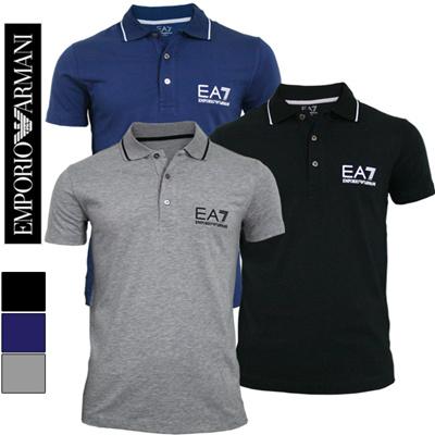 EMPORIO ARMANI EA7 mens short sleeve polo t-shirts _BigLogo