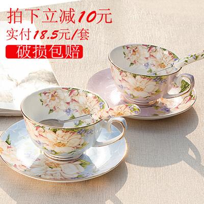dddfea3181f English bone China coffee cup set-style afternoon tea tea creative simple  home red ceramic Tea Cup
