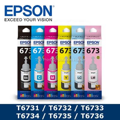 Epson[Original] Epson T6731 / T6732 / T6733 / T6734 / T6735 / T6736 70ml  Ink Bottle
