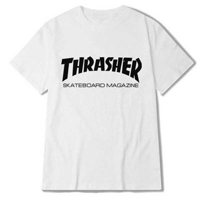 8d71d431a Eqmpowy Thrasher T Shirt Men Women Skateboards Tee Short Sleeve Skate T Shirts  Tops Hip Hop