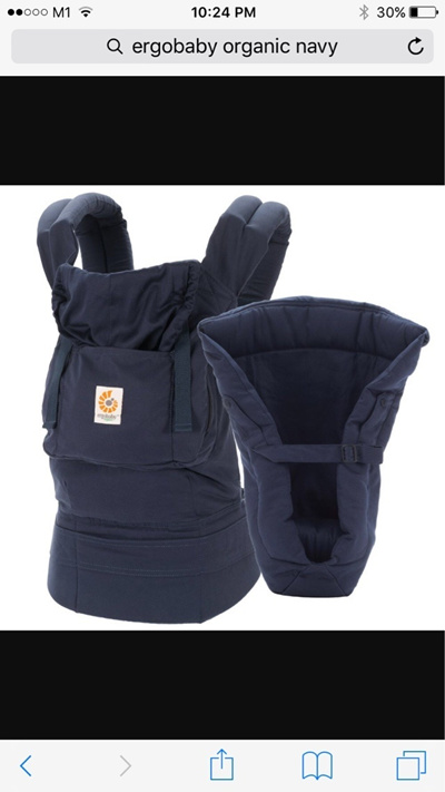 2d4c1ce3e29 Qoo10 - Ergobaby organic baby carrier (navy blue)   Baby   Maternity