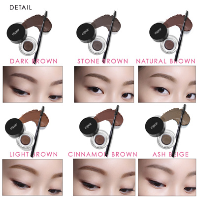 469e357b0385 Espoir Long-wear Brow Gel 6color eye brow including dual brush (eye brow  brush