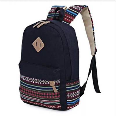 b429d729b0 Ethnic Women Backpack for School Teenagers Girls Vintage Stylish School Bag  Ladies Canvas Backpack F