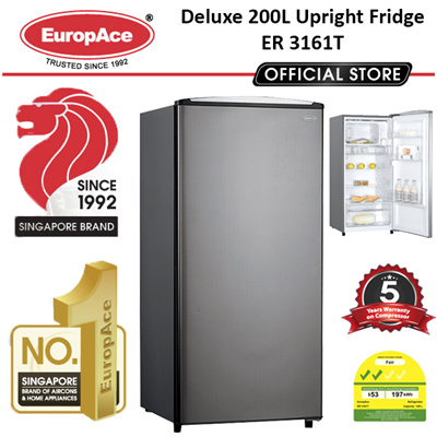 Qoo10 refrigerator home electronics europace deluxe 200lgross upright fridge er 3161t 5 years compressor fandeluxe Choice Image